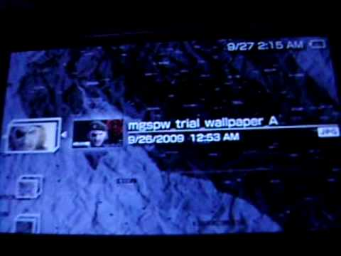 Secret Wallpaper in MGS: Peace Walker Demo Video