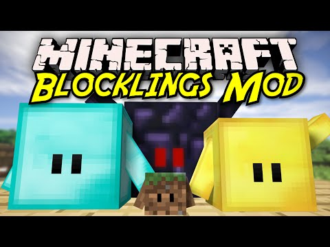 Minecraft | BLOCKLINGS MOD SHOWCASE! [Make Blocks Fight For You!]