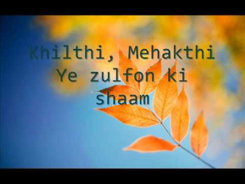 Ae Kaash Ke Hum   On screen Lyrics   Kumar Sanu