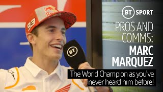 Marc Márquez as you've never heard him before commentating on his career highlights | Pros and Comms