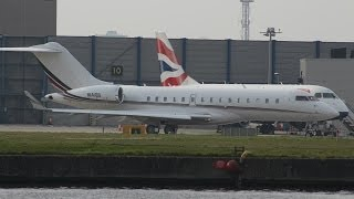 Executive jets movements at London City Airport, Takeoffs and Landings 18/03/14