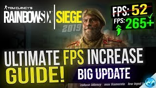 🔧 Rainbow Six Siege: Dramatically increase performance / FPS with any setup! 2019 Update