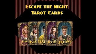 Tutorial and Review Of Escape the Night Season 4 tarot cards