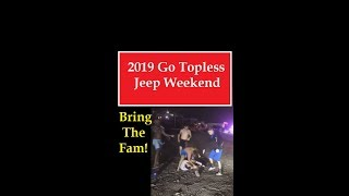 2019 Go Topless Jeep Weekend Crystal Beach Fight at Night