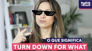 O que significa TURN DOWN FOR WHAT? | English in Brazil