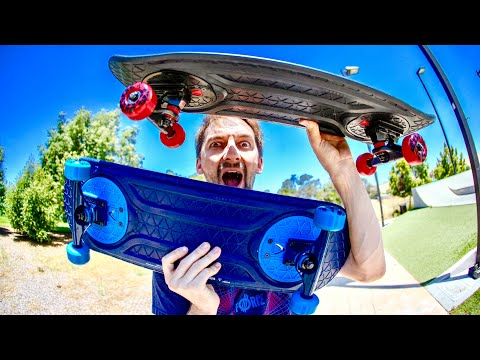 THE MOST INCREDIBLE SKATEBOARD INVENTION AT THE SKATEPARK!?!