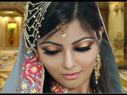 Gold and Peach Mehndi Makeup Tutorial - Asian Indian Bridal Makeup
