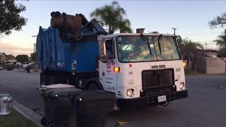 Republic Services Truck 2699 on a Double Yard Waste Route