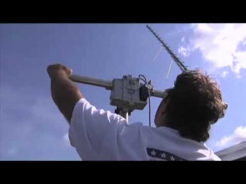 Ham radio operators release a high flying balloon
