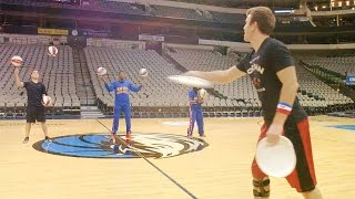 Trick Shots with Harlem Globetrotters | Brodie Smith