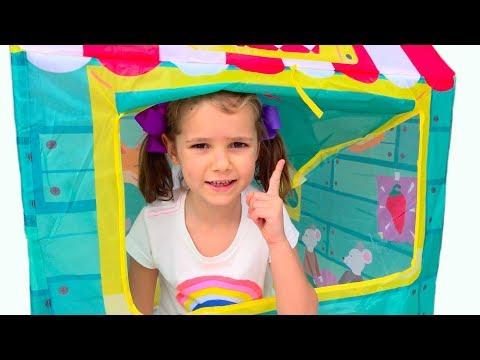 Макс и Катя построили цветные детские домики