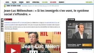 Jean Luc Mélenchon: ''Si les immigrés s'en vont, le système social s'effondre''