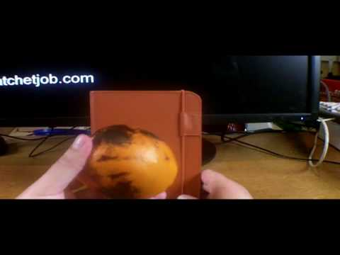 Amazon Kindle 3   burnt orange  leather case *only* unboxing