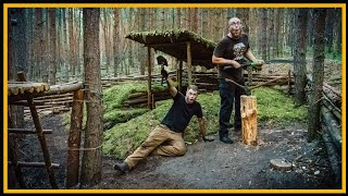 Bushcraft Camp: Lagerbau deluxe - Outdoor Bushcraft Survival Shelter