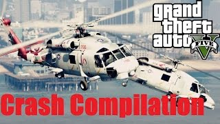 GTA V MH 60R Seahawk Variant Helicopter Pack Crash Compilation
