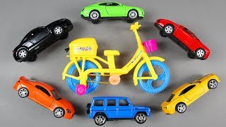 Cars for Kids with Colors for Children to Learn and Toy Super Cars | Yellow Bicycle