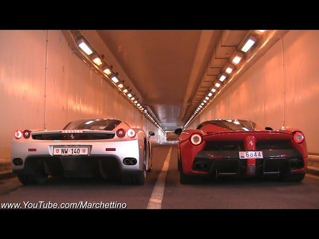 LaFerrari vs Ferrari Enzo INSANE Rev Battle! - YouTube