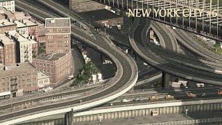 Cities Skylines : New York City - Brooklyn Bridge Interchange / Newtown Creek   (Ep.6)
