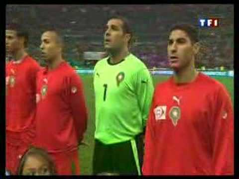 "nachid elawatani  ""maroc vs france"" football النشيد الوطني"