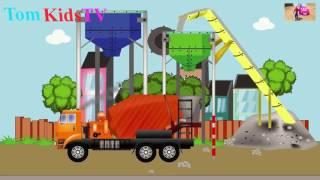 Toys car - Ô tô đồ chơi xe Bê tông - Hoạt hình Ô tô,Máy xúc công trường by Tom Kids TV