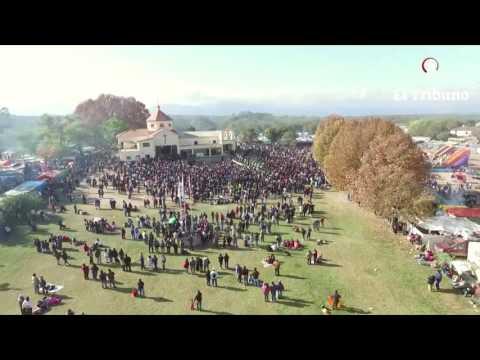 La fiesta grande de Sumalao vista desde un drone