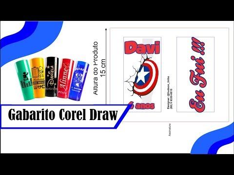 Curso Corel Draw Gabarito Long Drinks Tutorial