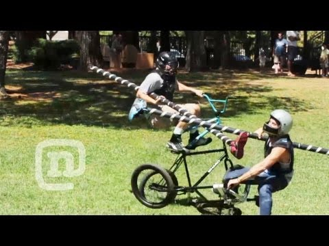 Ryan Nyquist BMX Tall Bike Jousting...