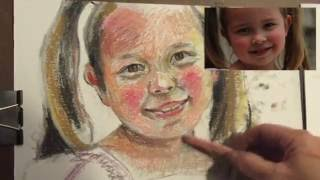 Pastel Demo of Lily  Stage II
