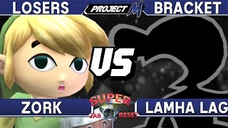 Project M - Zork (Toon Link) vs Lamha Lag (Mr. Game and Watch) - Super Jab Reset 01 Losers