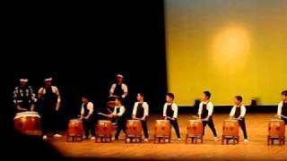 Cute Kindergarten Kids In Japan Play Taiko