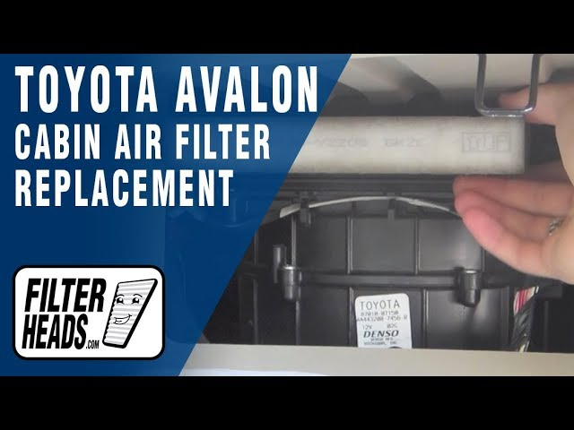 Cabin air filter replacement- Toyota Avalon - YouTube