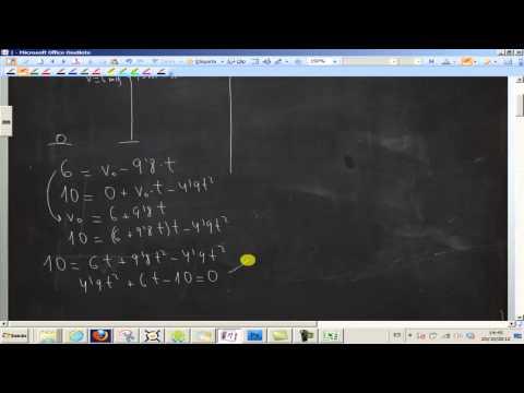 Calcular la velocidad inicial de un cuerpo UD04 Física 1º Bachillerato Academia Usero