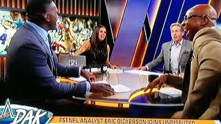 Skip Bayless n Joy Taylor tease Shannon Sharpe every time he's called by his brother's name Sterling