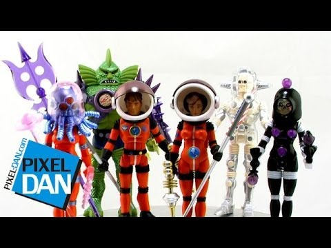 Outer Space Men Infinity Edition Waves 6 & 7 Deluxe 2 & 3 Figures Video Review