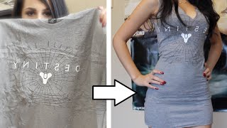 ☆ DIY: EASY TSHIRT DRESS TUTORIAL NO SEW ☆