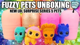 Unboxing More LOL Surprise Fuzzy Pets | L.O.L. Makeover Series 5 Pets Opening | Gold Rare Found!