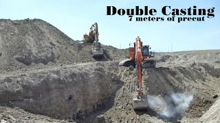 Double Casting 7 meters of precut | Hitachi EX1200