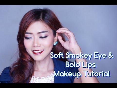 Soft Smokey Eye & Bold Lips Makeup Tutorial - YouTube