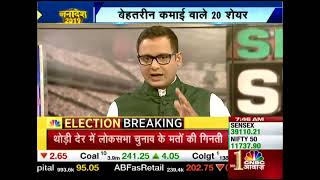 CNBC Awaaz Live Business News Channel | Rail And Agriculture Stocks Rise |  Stock 20-20