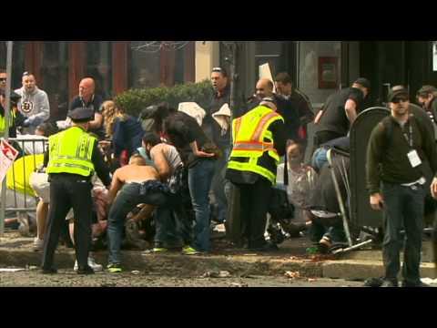BOSTON MARATHON BOMBING! 2nd explosion raw video, EXTREMELY GRAPHIC