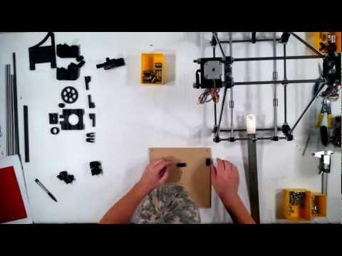 RepRap Prusa Mendel Iteration 2 Assembly 07 - MDF Bed