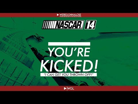 NASCAR 14 Video Game Trolling Reactions - I'm Kicking You Off The Game