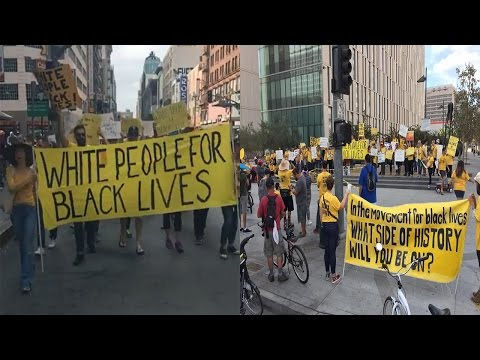 White People For Black Lives Protest To End Police Brutality & White Supremacy