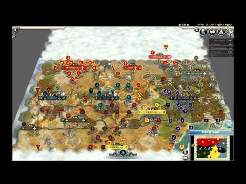 Civilization V Winners' Match: A Five Way Free-For-All AI Battle