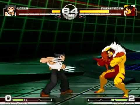 MUGEN : Claws Clash Logan vs Sabretooth