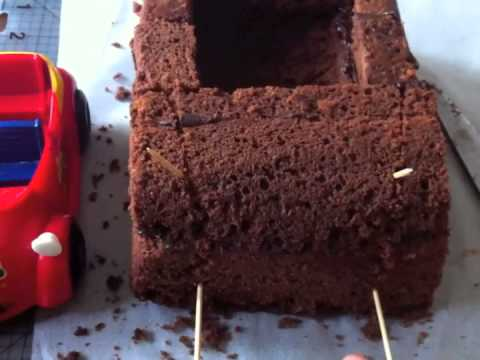 How To Make A Car Cake Part 1 Youtube