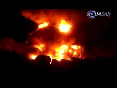 Robo de combustible originó incendio en un ducto de PEMEX en Zamora
