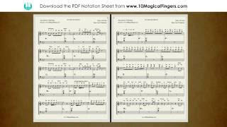 Tere Sang Yaara (Rustom) Piano Staff Notation Sheet | Chords and ABCD Notes | 10 Magical Fingers