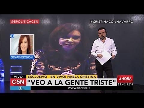 cristina dio una entrevista exclusiva a c5n