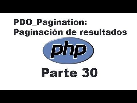 Curso de PHP 30 - Paginaci�n de resultados y campo de b�squeda